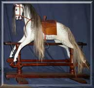 1885-Ayres rocking horse -finished restoration